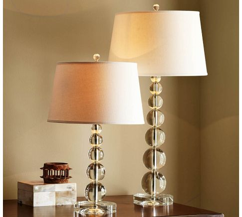 Creative project glass base table lamps jessica blaise stacked crystal table lamp aloadofball Image collections